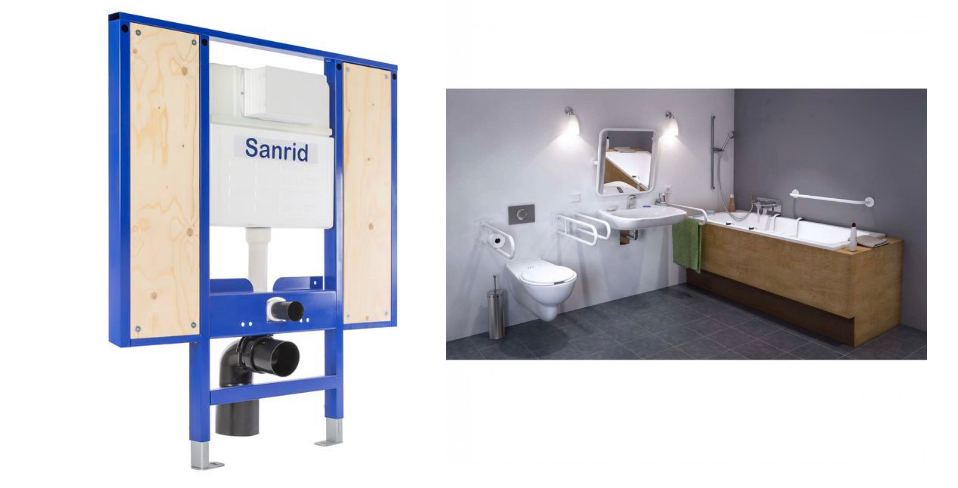 WC Behindertegerechte Vorwandelemente Pakete