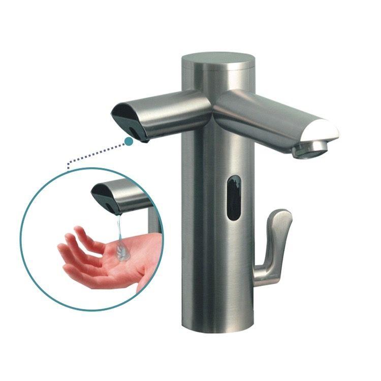 Waschtisch Elektronik Mischer Kalt- und Warmwasser mit Seifenspender