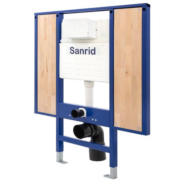 Sanrid stable WC Vorwandelement Barrierefrei 112 cm, Befestigungsplatte 18 mm, AN.IBF100137