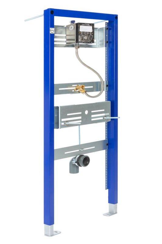 Sanrid Urinal Vorwandelement mit Elektronik Urinal Spülsystem,   6 Volt Betrieb 112 cm universell