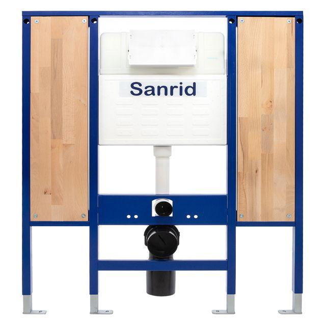 Sanrid solid Vorwandelement WC Barrierefrei, 112 cm