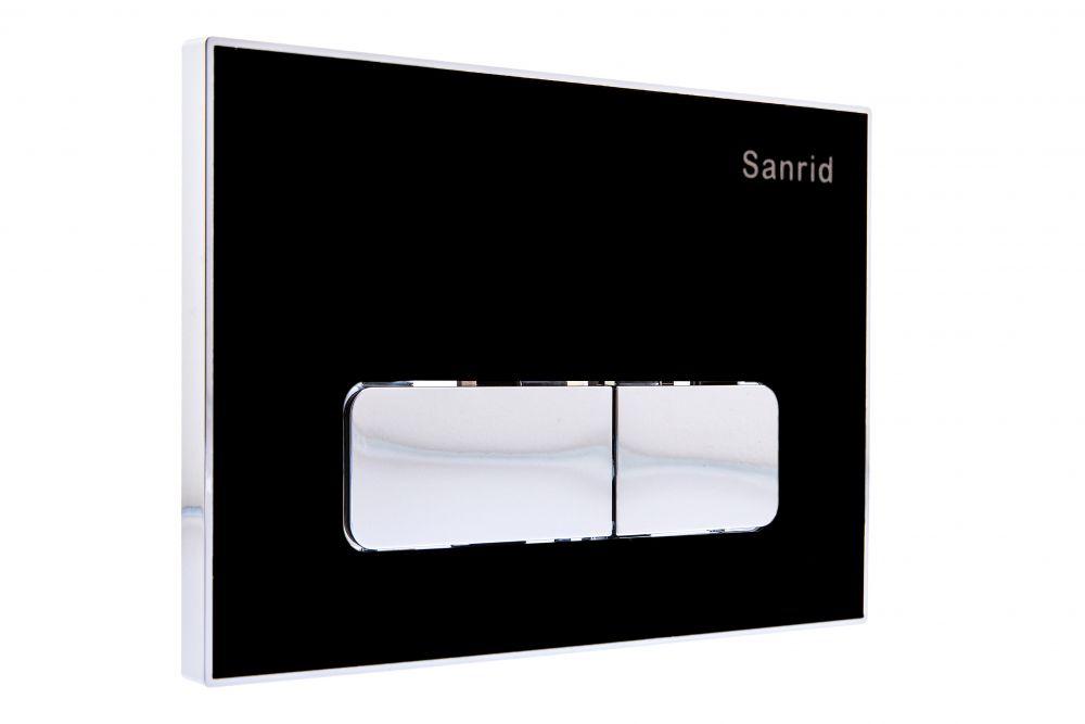 Sanrid Betätigungsplatte stable B1 schwarz/chrom