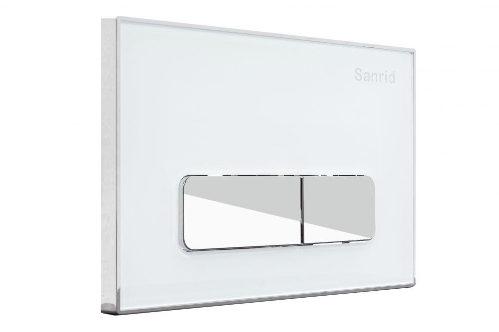 Sanrid Betätigungsplatte stable 06 weiß, AN. IBF100278