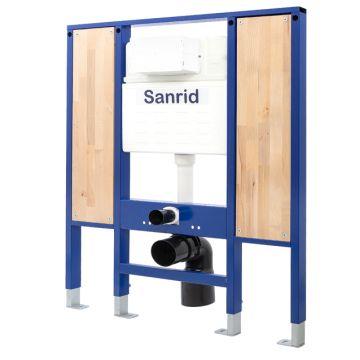 Sanrid solid Vorwandelement WC Barrierefrei 112 cm, Befestigungsplatte 18 mm