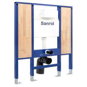 Sanrid solid Vorwandelement WC Barrierefrei 112 cm, Befestigungsplatte 18 mm, AN: IBF100352