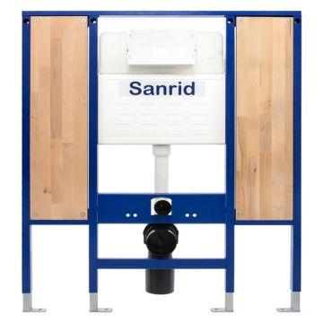 Sanrid solid Vorwandelement WC Barrierefrei 112 cm, Befestigungsplatte 27 mm