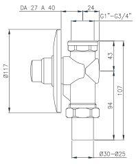 WC Druckspüler für die UP-Montage, AN. IBF100290