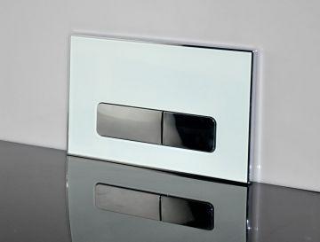 WC Vorwandelement Acryl Drückerplatte weiß/schwarz