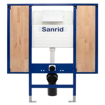 Sanrid stable WC Vorwandelement Barrierefrei 112 cm, Befestigungsplatte 18 mm