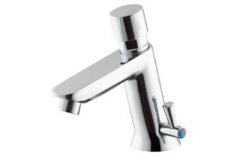 Waschtisch Selbstschluss Armatur Kalt und Warmwasser Betrieb