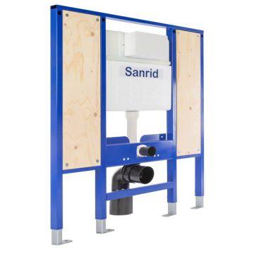 Sanrid solid Vorwandelement WC Barrierefrei 112 cm, Befestigungsplatte 18 mm, AN: IBF100350