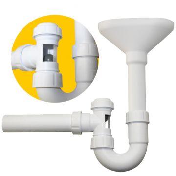Trichter-Kugelverschlusssiphon mit Reinigungsöffnung