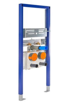 Sanrid Waschtisch Vorwandelement mit zwei Wasserzählerstrecken UP, 112 cm