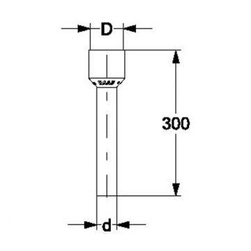 Anschlussstutzen für Urinal- und Ausgussbecken, AN: IBF100457