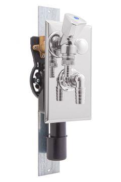 Unterputz-Geräte-Siphon & Auslaufventil inkl. Montageschiene, AN:IBF100460