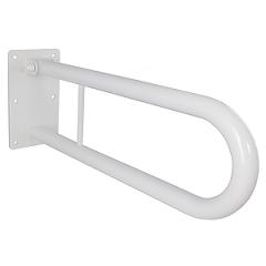 Klappgriff am WC oder Waschbecken für barrierefreies Bad weiß 70 cm ⌀ 32 mm, AN.IBF100461