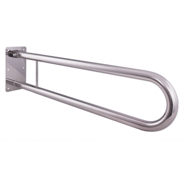 Klappgriff am WC oder Waschbecken für barrierefreies Bad Edelstahl 85 cm ⌀ 32 mm, AN.IBF100471