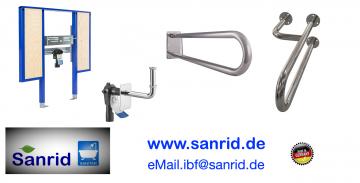 Barrierefreies, Behindertengerechtes Waschtisch Vorwandelement, Stützklappgriffe  Edelsathl