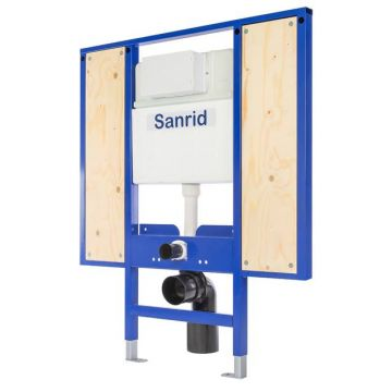 Sanrid stable WC Vorwandelement Barrierefrei 112 cm, Befestigungsplatte 27 mm, AN: IBF100488
