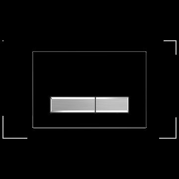 Sanrid Betätigungsplatte stable B9 matt black/chrom matt