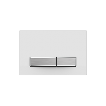 Sanrid Betätigungsplatte stable B9 weiss/matt chrom