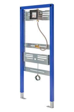 Sanrid Urinal Vorwandelement mit Elektronik Urinal Spülsystem 6 Volt Betrieb, 112 cm, mit manueller Auslösung