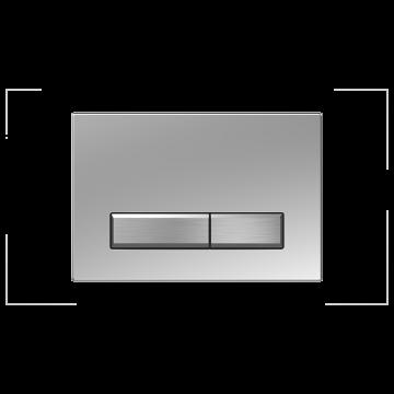 Sanrid Betätigungsplatte stable B9 chrom/chrom gebürstet