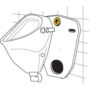 Urinal Zulaufgarnitur Messing 1/2