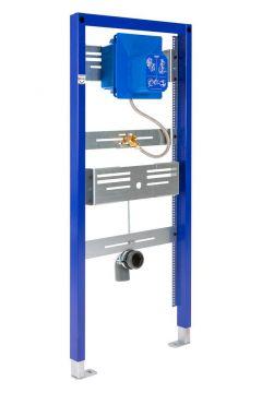 Sanrid Urinal Vorwandelement Unterputzmontage, 112 cm mit Grohe Rapido UMB Rohbausatz für Urinal